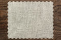 Canvas napkin cloth table wooden zigzag Royalty Free Stock Photo