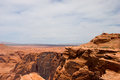 Canyon and desert beyond, near Page, Arizona, USA Royalty Free Stock Photo