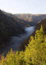 Canyon of eume river in galicia spain the photo was taken a sunny morning Stock Photos