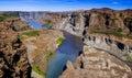 Canyon of jokulsa a fjollum river in jokulsargljufur national park iceland panorama Stock Image
