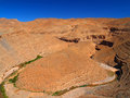 Canyon in morocco winding deep rocky desert Stock Photo