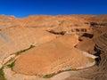 Canyon in morocco winding deep rocky desert Stock Photo
