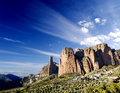 Canyon and mountains dreamscape idyllic landscape at spain riglos Stock Image