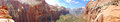 Canyon Overlook Trail Zion, Panoramic Royalty Free Stock Photo