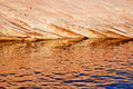 Canyon Reflection Abstract Lake Powell Arizona Royalty Free Stock Photo