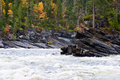Canyon river in the at fall Stock Image
