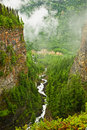 Canyon of Spahats Creek in Wells Gray Park, Canada Stock Photo