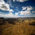 Canyonlands with clouds in Utah Royalty Free Stock Photo