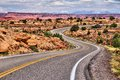 Canyonlands utah national park in usa island in the sky district winding road Stock Photography