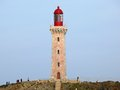 Cap bear lighthouse vermilion coast france Stock Images