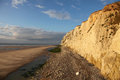 Cap blanc nez view on the cliff and the beach at the in the north of france near boulogne sur mer Stock Photography
