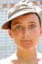 Cap boy face Royalty Free Stock Image