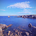 Cap de cavalleria on minorca landscape of menorca balearic islands spain Royalty Free Stock Photography