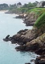 Cap frehel idyllic coastal scenery at in brittany france Stock Photography