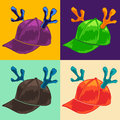 Cap with reindeer horns collection