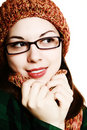 Cap, scarf and glasses. Royalty Free Stock Photography