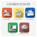 Capability icon set Royalty Free Stock Photo