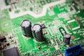 Capacity on electronic board closeup Stock Photos