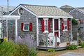 Cape cod cottage a traditional in massachusetts Royalty Free Stock Image