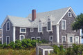 Cape cod house a traditional in provincetown massachusetts Royalty Free Stock Photos
