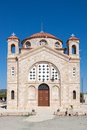 Cape deprano cyprus greece july church of agios georgios at on Royalty Free Stock Image
