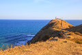 Cape emine bulgaria the lighthouse at black sea coast forms the tip of balkan mountains is said to be Stock Images