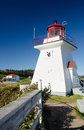 Cape enrage new brunswick canada historic lighthouse Stock Photography