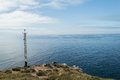 Cape finisterre the end of the camino de santiago galicia in spain Royalty Free Stock Photo