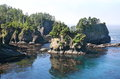 Cape Flattery in Olympic national park Stock Image