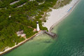 Cape Florida Key Biscayne lighthouse Royalty Free Stock Photo