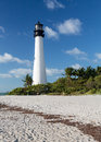 Cape Florida lighthouse in Bill Baggs Royalty Free Stock Photo