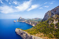 Cape formentor mallorca in balearic island spain Stock Images