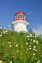 Cape Gaspe lighthouse, Quebec Royalty Free Stock Photo