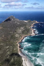 Cape of good hope and cape point aerial view the southern end the peninsula near town south africa with Stock Photos