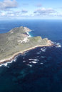 Cape of good hope and cape point aerial view the southern end the peninsula near town south africa with Royalty Free Stock Photo