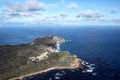 Cape of good hope and cape point aerial view the southern end the peninsula near town south africa with Stock Photography