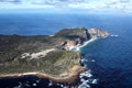 Cape of good hope and cape point aerial view the southern end the peninsula near town south africa with Royalty Free Stock Photos
