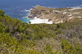 The Cape of Good Hope. Cape Point nature reserve. Stock Photos