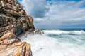 Cape of good hope wild ocean at Royalty Free Stock Images