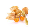 Cape gooseberry (physalis) isolated on white background. Royalty Free Stock Photo