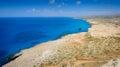 Cape Greco coastline view,cyprus Royalty Free Stock Photo