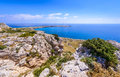 Cape Greco coastline view,cyprus 4 Royalty Free Stock Photo