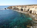 Cape greco at southern cyprus Royalty Free Stock Photos