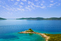 Cape and islands in croatia nature vacations background Royalty Free Stock Photography