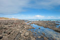 Cape jervis shoreline rocky at in south australia Royalty Free Stock Photography