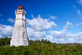 Cape jourimain lighthouse new brunswick is one of the most picturesque and historic lighthouses in Royalty Free Stock Photography