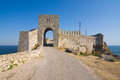 Cape kaliakra black sea bulgaria medieval fortress on Stock Photo