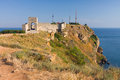 Cape kaliakra black sea bulgaria medieval fortress on Royalty Free Stock Images