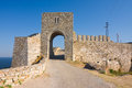 Cape kaliakra black sea bulgaria medieval fortress on Royalty Free Stock Photos