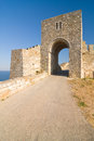 Cape kaliakra black sea bulgaria medieval fortress on Royalty Free Stock Image